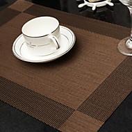 billige Bordduker-Moderne Plast Kvadrat Bordskånere Stripet Borddekorasjoner 1 pcs