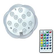 baratos Focos-Brelong® 1 pc 3 w 12 leds luzes subaquáticas controle remoto à prova d 'água decorativa piscina rgb 5.5 v