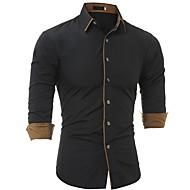Veći konfekcijski brojevi Majica Muškarci - Posao Dnevno Jednobojni