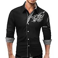 男性用 プリント シャツ ビジネス ベーシック 動物