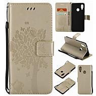 billiga Mobil cases & Skärmskydd-fodral Till Huawei Honor 4X / Huawei Mate S / huawei P9 Plånbok / Korthållare / med stativ Fodral Träd Hårt PU läder för P10 Plus / P10 Lite / P10 / Huawei P9 Plus / Huawei P9 Lite