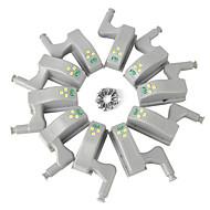 billiga Belysning-ywxlight®-packar inre gångjärnsledare under skåplampor för kökslådor garderob nattlampa batteridriven