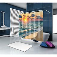 tanie Zasłony prysznicowe-Zasłony i Haczyki Kąpielowe Współczesny / Śródziemnomorskie Poliester Nowość / Współczesne Wykonane maszynowo Wodoodporne Łazienkowe