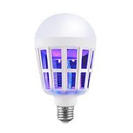 billige Globepærer med LED-BRELONG® 1pc 15W 9W 200lm E26 / E27 LED-globepærer 12 LED perler SMD Insekter Mygg Fly Killer Hvit 220-240V