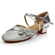 baratos Sapatilhas de Dança-Mulheres Sapatos de Dança Moderna Paetês Salto Salto Baixo Personalizável Sapatos de Dança Prata / Interior / Ensaio / Prática