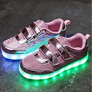 baratos Sapatos de Menina-Para Meninos / Para Meninas Sapatos Arrastão / Tule Verão Solados com Luzes / Tênis com LED Tênis LED para Dourado / Prata / Rosa claro