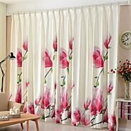 Curtains Drapes Living Room Contemporary Cotton Polyester Printed