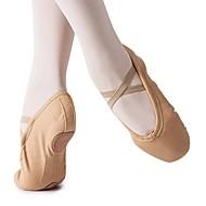 billige Kustomiserte dansesko-Jente Ballettsko Lerret Flate Flat hæl Kan spesialtilpasses Dansesko Kamel / Innendørs / Trening