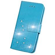 billiga Mobil cases & Skärmskydd-fodral Till Sony Xperia XZ2 Xperia L2 Strass Lucka Läderplastik Fodral Mandala Fjäril Hårt PU läder för Sony Xperia Z2 Sony Xperia Z3