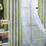 billige Gardiner-gardiner gardiner Soverom Blomstret Bomull / Polyester Trykket