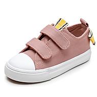 baratos Sapatos de Menino-Para Meninos / Para Meninas Sapatos Lona Primavera Conforto Tênis para Preto / Vermelho / Rosa claro