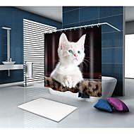 olcso Zuhanyfüggönyök-Shower Curtains & Hooks Kortárs Modern Poliészter Állat Újdonság Géppel készített Vízálló Fürdőszoba