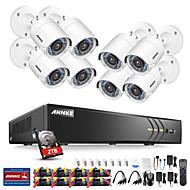 billige DVR-Sett-annke® 8ch 1080p sikkerhetskamera system med 1 tb harddisk 8stk ip kameraer