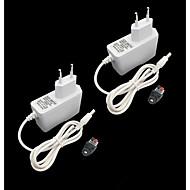 billige belysning Tilbehør-ZDM® 2pcs 100-240 V Strip Light Tilbehør / EU Strømforsyning / Knappbryter Plast for LED Strip lys 24 W