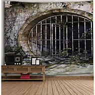 tanie Dekoracje ścienne-Architektura Dekoracja ścienna Poliester Vintage Wall Art, Ścienne Gobeliny Dekoracja