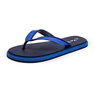 お買い得  メンズスリッパ&ビーチサンダル-男性用 靴 繊維 夏 コンフォートシューズ スリッパ&フリップ・フロップ のために カジュアル グリーン レッド ブルー