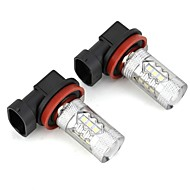 cheap Car Light Accessories-H8 Car Light Bulbs 5.5W 120lm LED Accessories For universal All Models All years