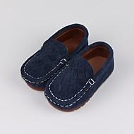 tanie Obuwie chłopięce-Dla chłopców Buty Nubuk Wiosna Jesień Buty do nauki chodzenia Comfort Mokasyny i pantofle na Casual Gray Niebieski Camel
