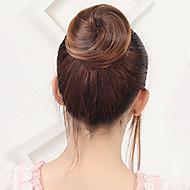 Medium Rødbrun / Mørk Rødbrun / Afbleget Blond Blomster Hår knold Sexet dame Snørelukning Syntetisk hår Hårstykke Hårpåsætning Blomster