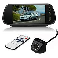 billiga Parkeringskamera för bil-ziqiao 7 tums färg tft lcd bil backspegel skärm och 8 led ccd hd vattentät bil bakifrån kamera