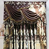 billige Gardiner ogdraperinger-gardiner gardiner Stue Blomstret Bomull / Polyester Trykket