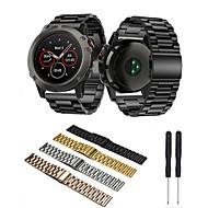 billiga Smart klocka Tillbehör-Klockarmband för Fenix 5x Fenix 3 HR Fenix 3 Garmin fjäril spänne Rostfritt stål Handledsrem