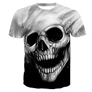 Χαμηλού Κόστους -Ανδρικά T-shirt Κρανίο Βασικό Νεκροκεφαλές Στάμπα