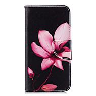 Pouzdro Uyumluluk Huawei P20 / P20 lite Cüzdan / Kart Tutucu / Satandlı Tam Kaplama Kılıf Çiçek Sert PU Deri için Huawei P20 / Huawei P20 lite / P10 Lite