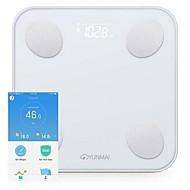 tanie Ulepszanie domu-Yunmai xiaomi inteligentne mini tkanki tłuszczowej skala wagi ciała z wyświetlaczem led schudnąć hd 1pack szkła abs bluetooth app domu