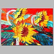 billiga Blom-/växtmålningar-Hang målad oljemålning HANDMÅLAD - Blommig / Botanisk Traditionell Duk