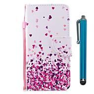 billiga Mobil cases & Skärmskydd-fodral Till Motorola G5 Plus Korthållare Plånbok med stativ Lucka Magnet Fodral Hjärta Hårt PU läder för Moto G5s Plus Moto G5s