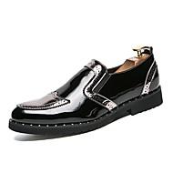 baratos Sapatos Masculinos-Homens Sapatos formais Couro Ecológico Primavera / Outono Sapatos formais Oxfords Dourado / Preto / Prata / Sapatos de vestir