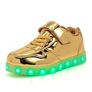 tanie Obuwie chłopięce-Dla chłopców / Dla dziewczynek Obuwie PU Wiosna Świecące buty Tenisówki LED na Dla dzieci Złoty / Srebrny / Różowy