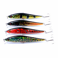 4 pcs Minnow Fishing Lures Hard Bait Popper ABS Outdoor Sports & Outdoors Sinking Sea Fishing Fly Fishing Bait Casting / Spinning / Jigging Fishing / Freshwater Fishing / Carp Fishing / Bass Fishing