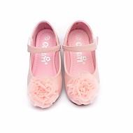 tanie Obuwie dziewczęce-Dla dziewczynek Buty Syntetyczny Microfiber PU Wiosna Jesień Comfort Buty płaskie na Casual Beige Różowy