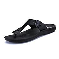 olcso -Férfi cipő Bőrutánzat Nyár Kényelmes Szandálok Fekete / Barna
