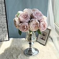 billige Kunstig Blomst-Kunstige blomster 5 Afdeling pastorale stil / Brudebuketter Kamelia / Roser Bordblomst