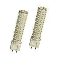 billige Kornpærer med LED-2pcs 13W 980lm G12 LED-kornpærer T 144 LED perler SMD 2835 Varm hvit Hvit 85-265V
