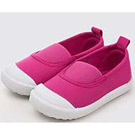 tanie Obuwie chłopięce-Dla dziewczynek Dla chłopców Buty Płótno Wiosna Jesień Comfort Mokasyny i pantofle na Casual White Dark Blue Fuchsia