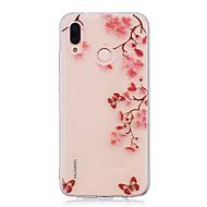 billiga Mobil cases & Skärmskydd-fodral Till Huawei P20 lite P20 Pro IMD Genomskinlig Mönster Skal Blomma Mjukt TPU för Huawei P20 lite Huawei P20 Pro Huawei P20 P10 Plus