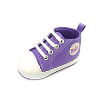 baratos Sapatos de Menino-Para Meninos / Para Meninas Sapatos Lona Primavera Conforto / Primeiros Passos Tênis para Branco / Roxo / Vermelho