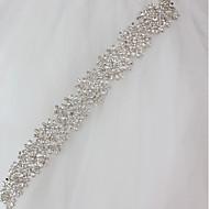 abordables Fajas de Fiesta-Metalic Boda Ocasión especial Faja With Cristales / Rhinestones Mujer Bandas