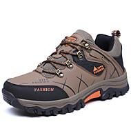 preiswerte Wanderschuhe-Herrn Schuhe PU Frühling Herbst Komfort Sneakers Wandern Schnürsenkel für Draussen Grau Armeegrün Khaki
