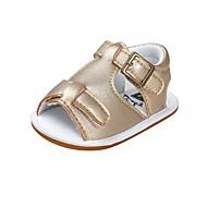 baratos Sapatos de Menina-Para Meninos / Para Meninas Sapatos Courino Verão Conforto / Primeiros Passos / Sapatos de Berço Sandálias Velcro para Bebê Azul / Azul