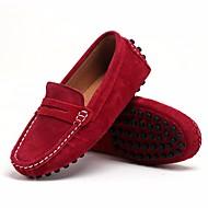 baratos Sapatos de Menino-Para Meninos Sapatos Pele Nobuck Primavera Conforto Mocassins e Slip-Ons para Preto / Vinho