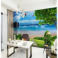 billige Tapet-Veggmaleri Lerret Tapetsering - selvklebende nødvendig Trær / Blader Art Deco 3D