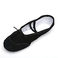billige Ballettsko-Herre Ballett Lerret Hel såle Joggesko Innendørs Tvinning Flat hæl Svart <1inch Kan spesialtilpasses