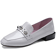 cheap Women's Slip-Ons & Loafers-Women's Shoes Patent Leather Spring / Fall Comfort Loafers & Slip-Ons Chunky Heel Light Grey / Blue