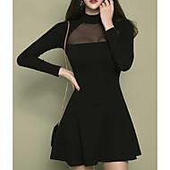 Mulheres Moda de Rua Bainha Vestido Sólido Mini