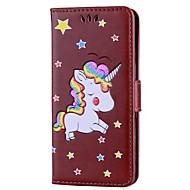 billiga Mobil cases & Skärmskydd-fodral Till Xiaomi Redmi Note 4 Plånbok / Korthållare / med stativ Fodral Enhörnings Hårt PU läder för Xiaomi Redmi Note 4 / Xiaomi Redmi Note 3